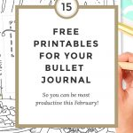 Free Bullet Journal Printables February 2017   Wundertastisch   Free Printable Journal Pages