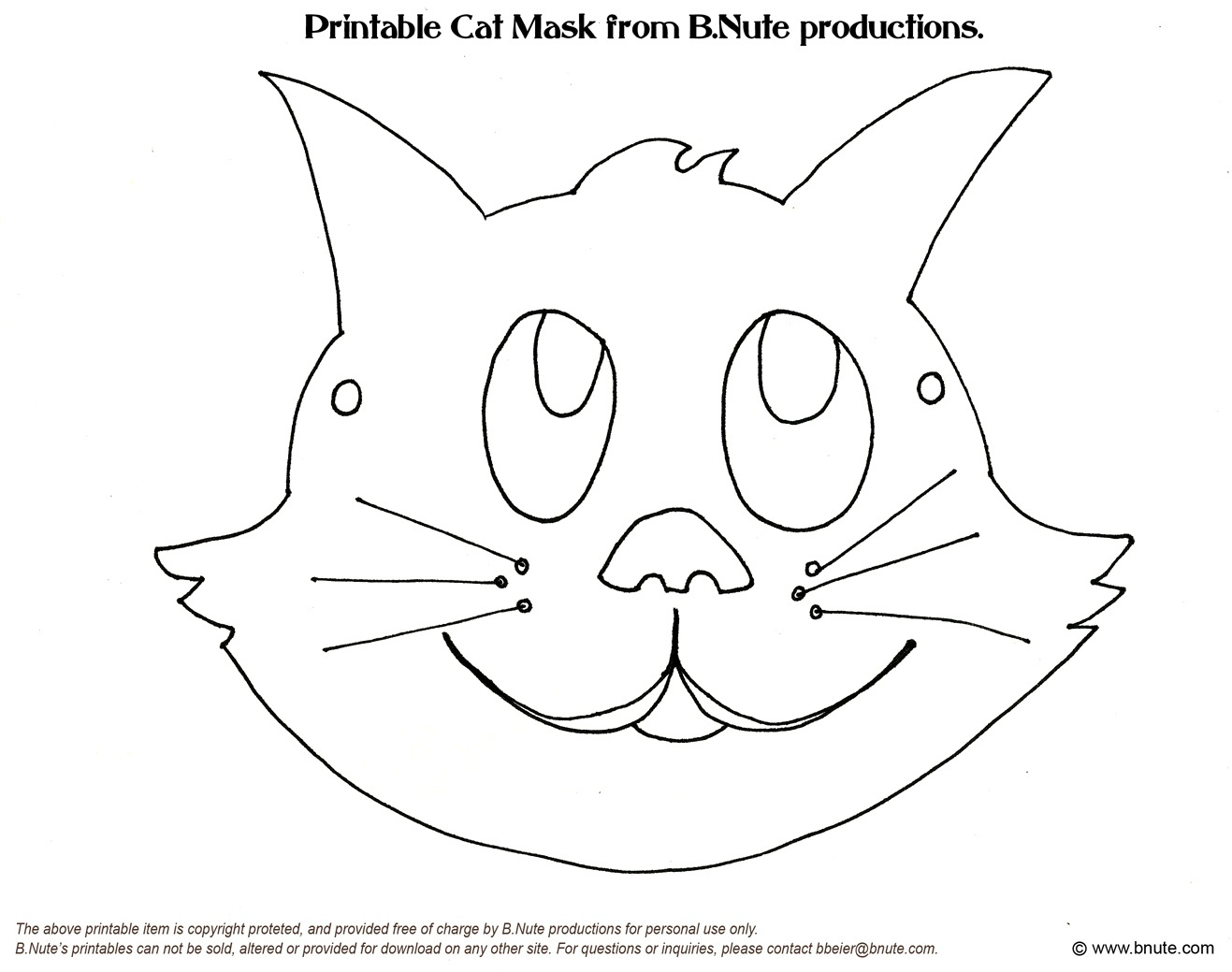 Free Cat Face Template, Download Free Clip Art, Free Clip Art On - Animal Face Masks Printable Free