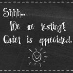 Free Chalkboard Testing Door Sign! Shhhh | Education | Door Signs   Free Printable Testing Signs