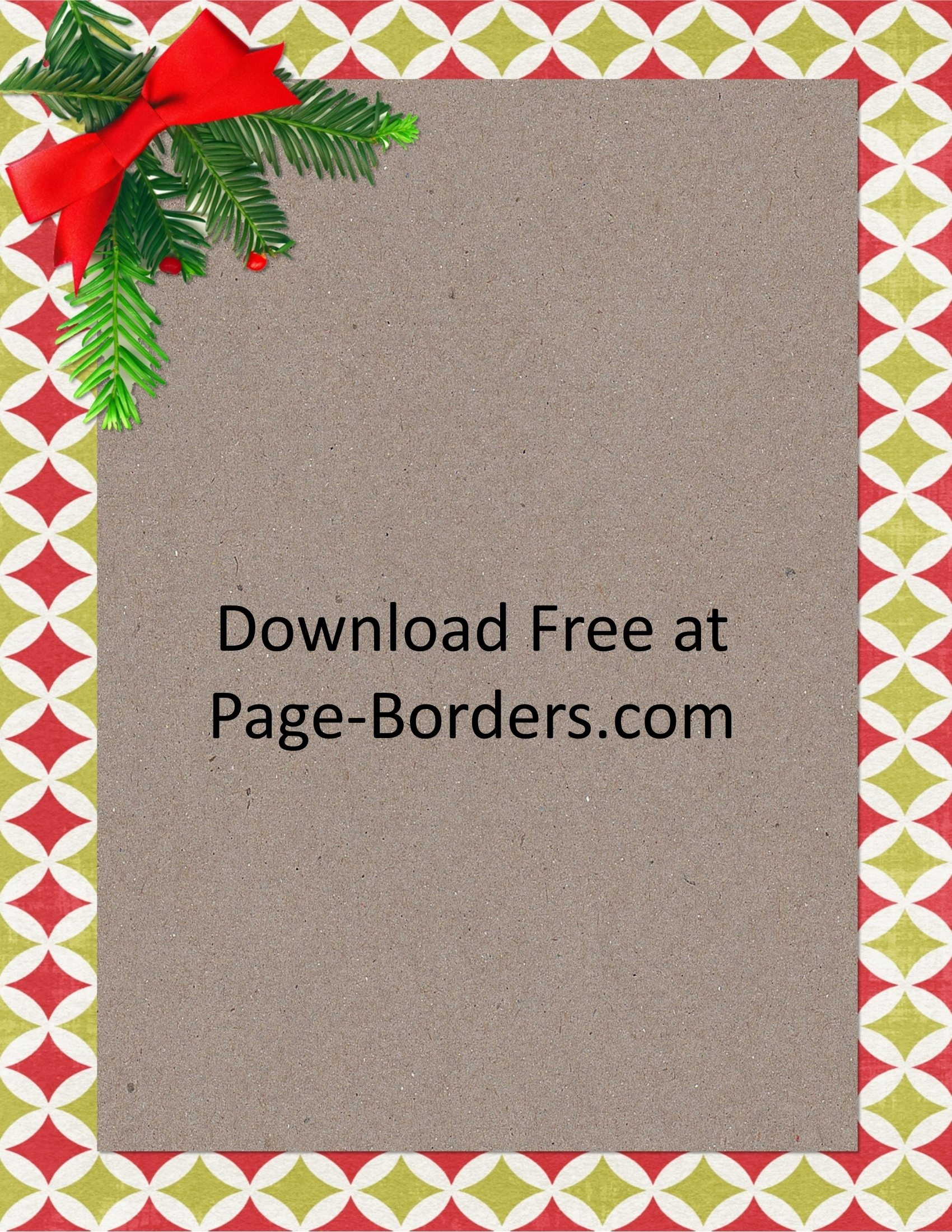 Free Christmas Border   Customize Online   Personal & Commercial Use - Free Printable Christmas Backgrounds