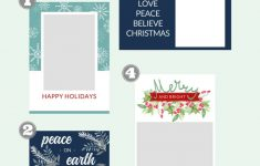 Free Christmas Card Templates – The Crazy Craft Lady – Free Printable Christmas Card Templates