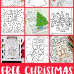 Free Christmas Coloring Pages For Adults And Kids   Happiness Is   Free Printable Christmas Pictures