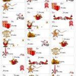 Free Christmas Gift Tag Printable ~ Print Either On Card Stock & Cut   Free Printable Gift Name Tags
