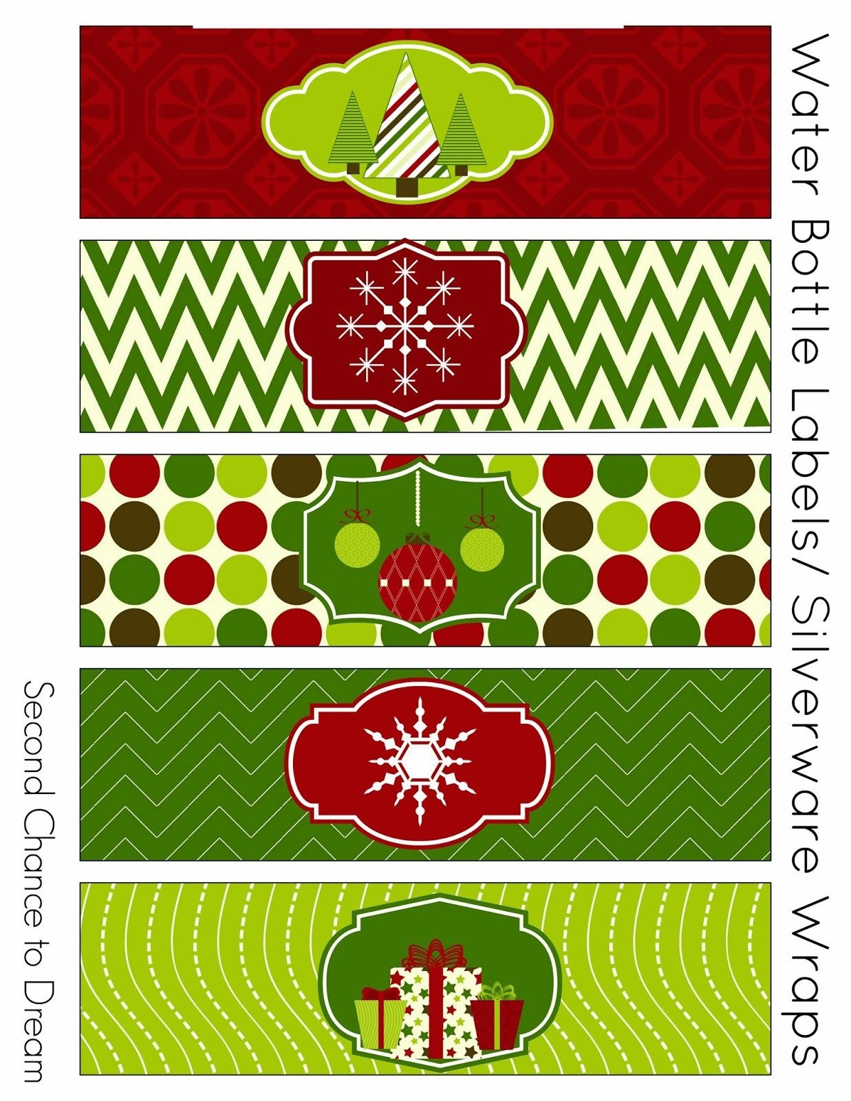 Free Christmas Party Printables   {Holidays}   Party Printables - Christmas Water Bottle Labels Free Printable
