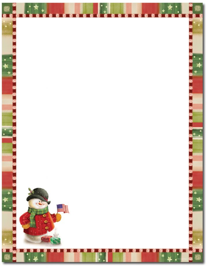 Free Printable Christmas Paper With Borders