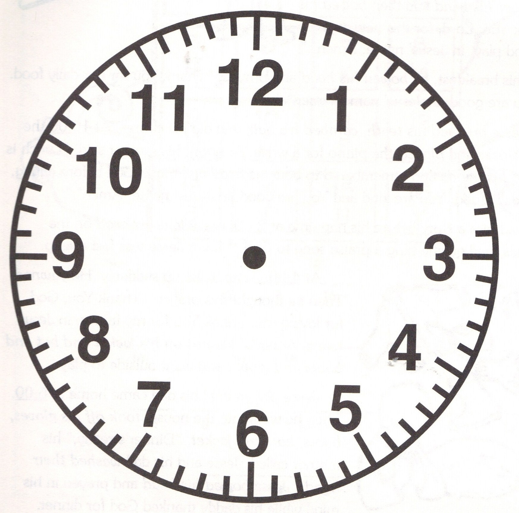 Free Clock Faces Printable | Activity Shelter - Free Printable Clock Faces