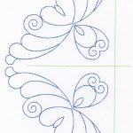 Free Continuous Machine Quilting Designs | Feather Quilting Design   Free Printable Pantograph Quilting Patterns
