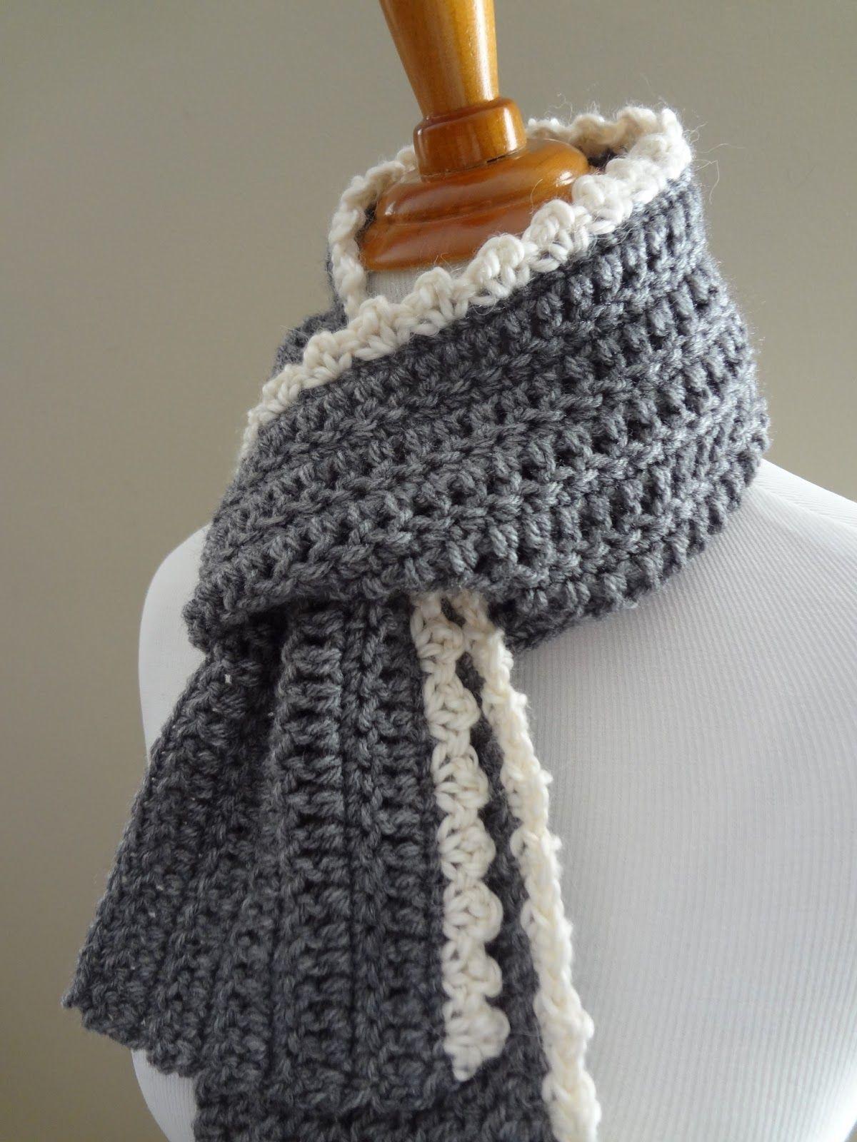Free Crochet Patterningrid Scarf | Crochet | Crochet Scarves - Free Printable Crochet Scarf Patterns