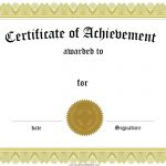Free Customizable Certificate Of Achievement   Free Printable Certificates Of Accomplishment