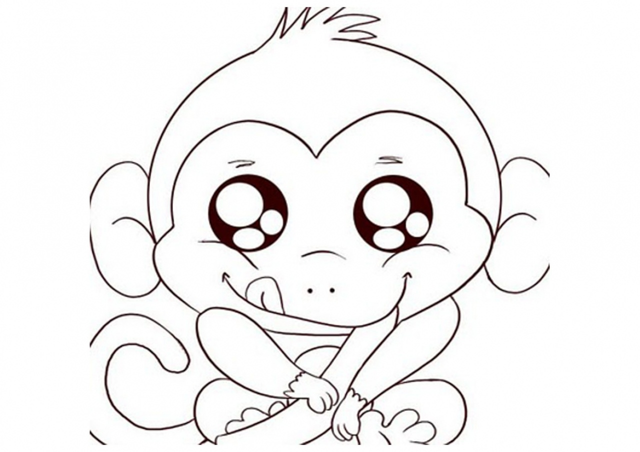 Free Cute Baby Monkey Drawings, Download Free Clip Art, Free Clip - Free Printable Monkey Coloring Sheets