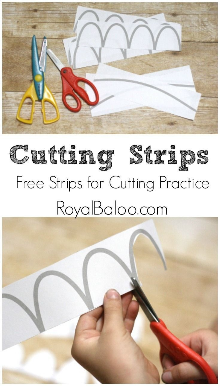 Free Cutting Practice Strips | Free Worksheets For Kids - Free Printable Fine Motor Skills Worksheets