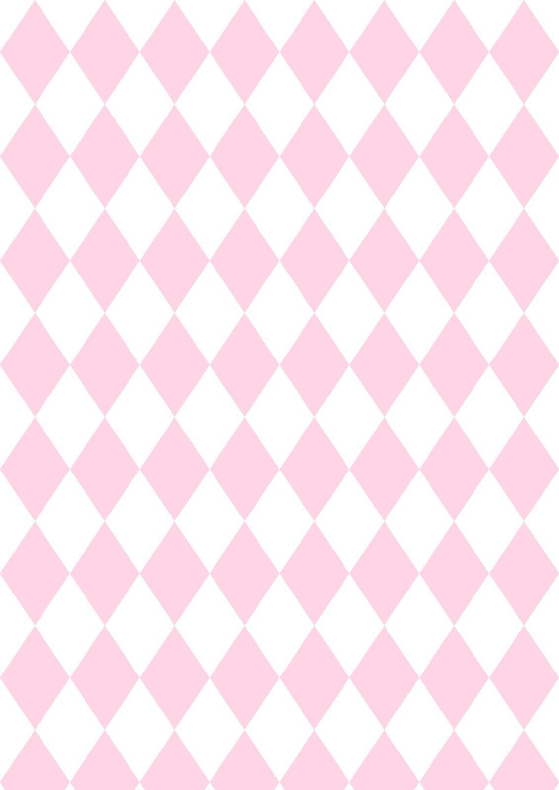 Free Digital Pink Harlequin Scrapbooking Paper - Ausdruckbares - Free Printable Patterns