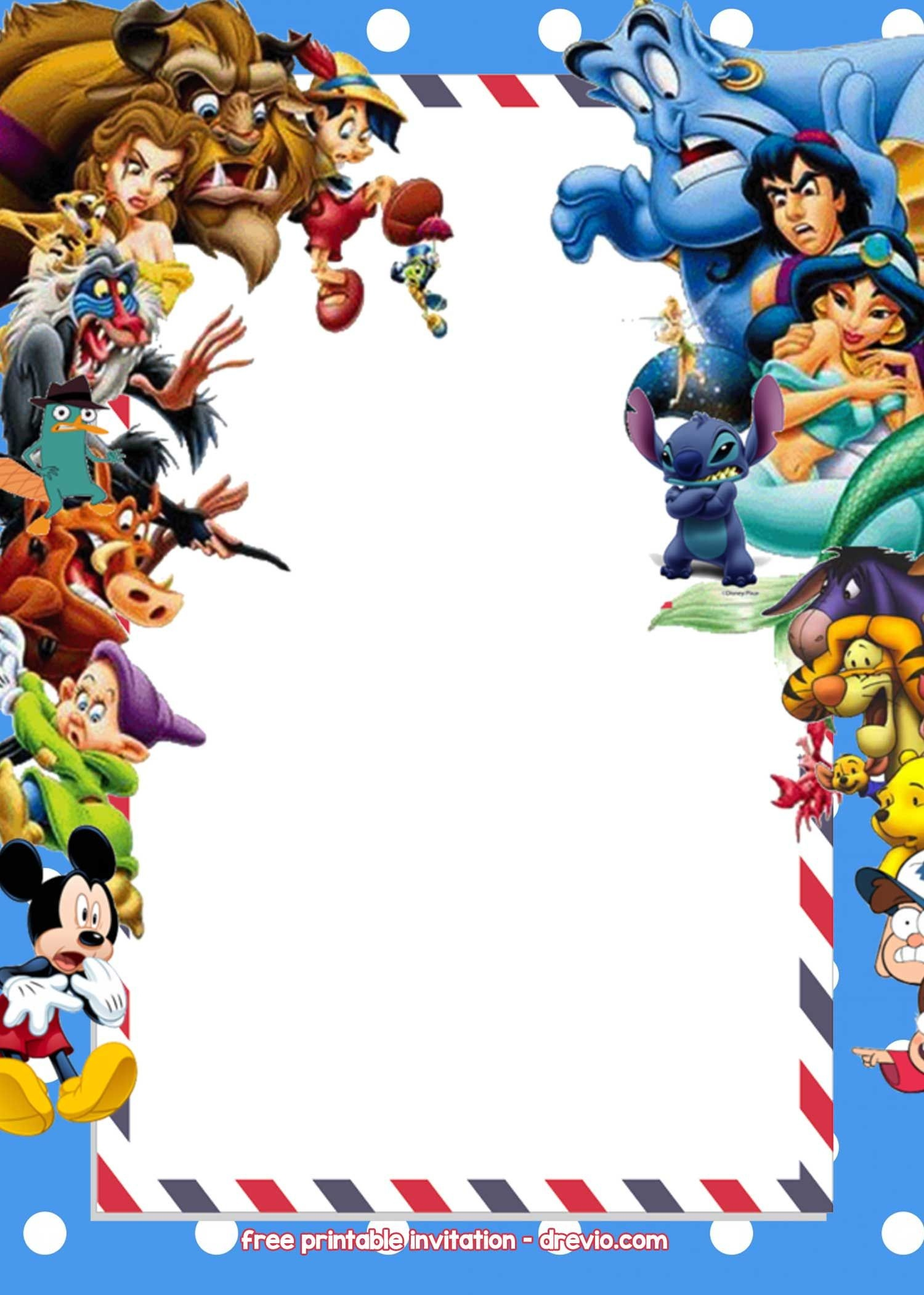 Free Disney Invitations | Free Printable Birthday Invitation - Free Printable Disney Invitations