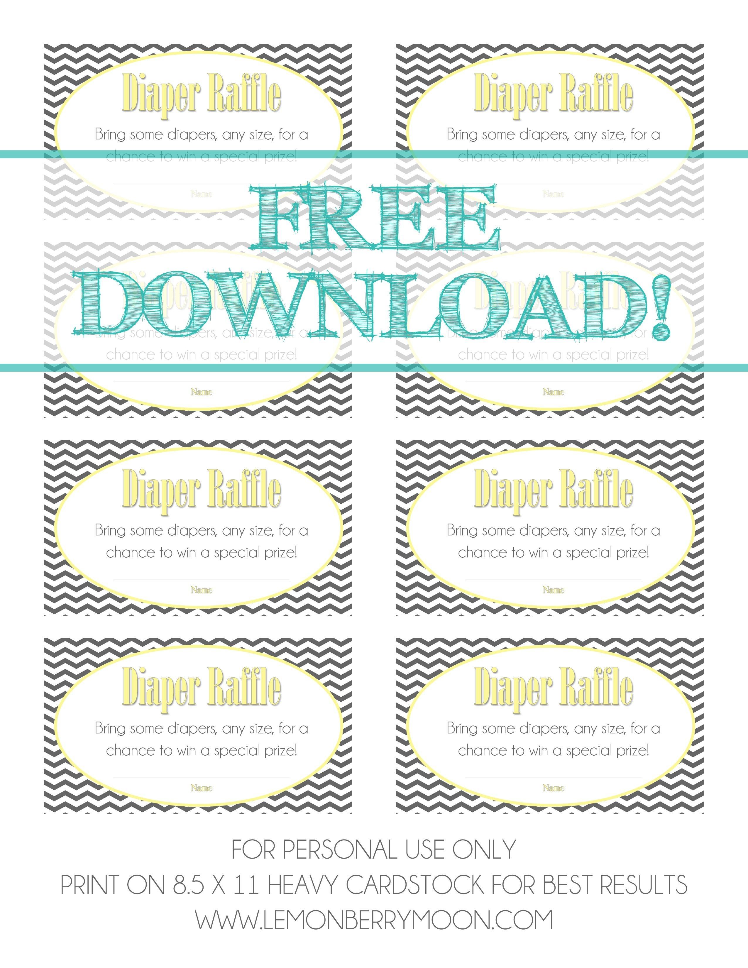 Free Download - Baby Diaper Raffle Template   Baaby Shower   Baby - Diaper Raffle Template Free Printable