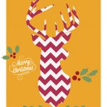 Free Downloadable Christmas Cards   Chevron Deer   Free Online Printable Christmas Cards