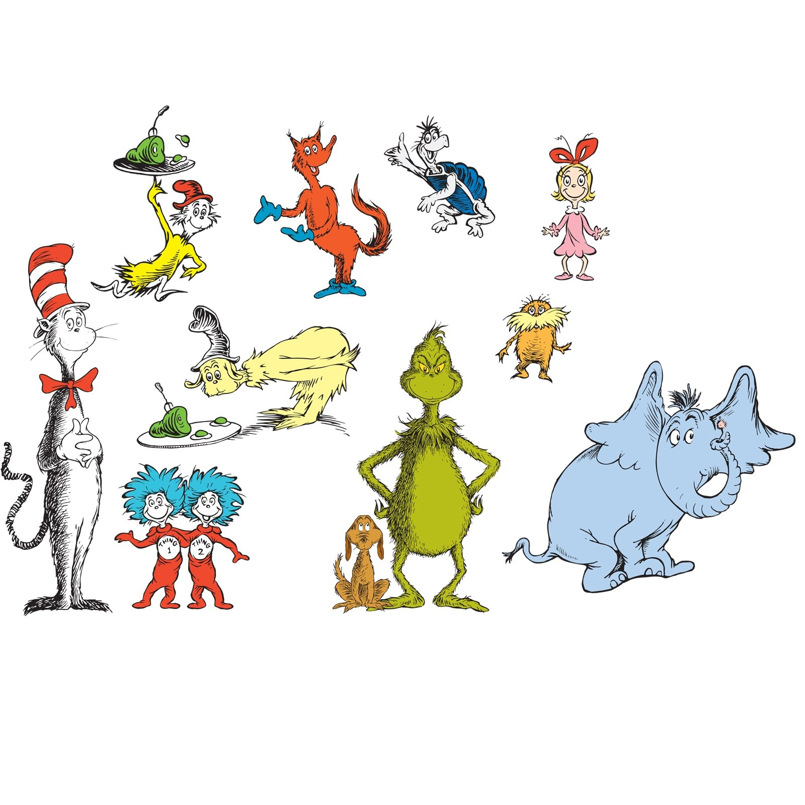 Free Dr. Seuss Characters, Download Free Clip Art, Free Clip Art On - Free Printable Pictures Of Dr Seuss Characters