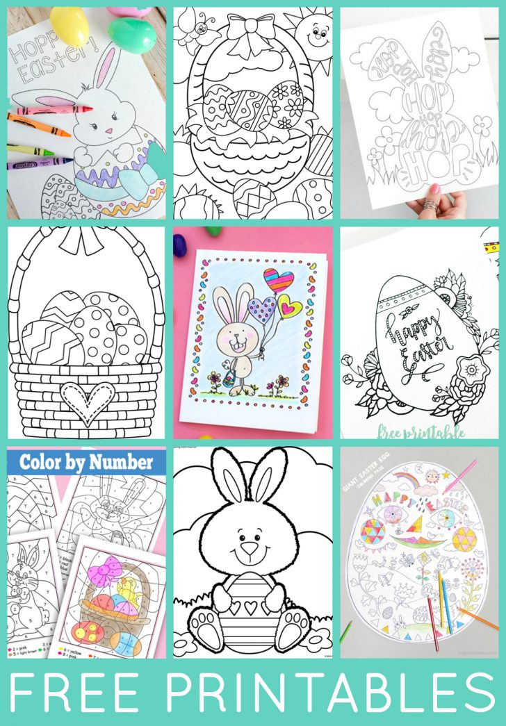 Easter Color Pages Free Printable
