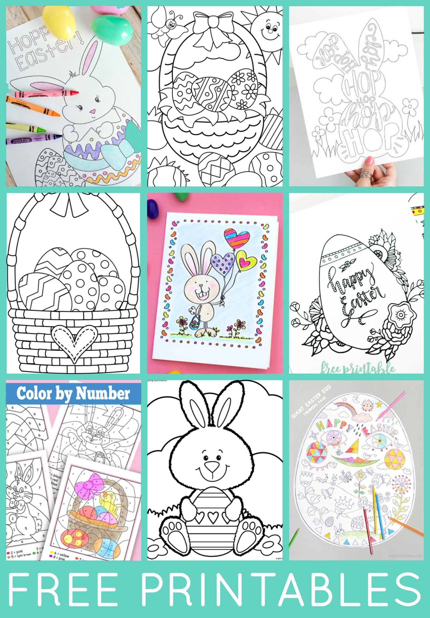 Free Easter Coloring Pages - Happiness Is Homemade - Free Printable Easter Cards To Print