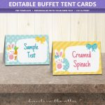 Free Easter Party Food Labels | Printable Download | Hands In The Attic   Free Printable Food Tags For Buffet