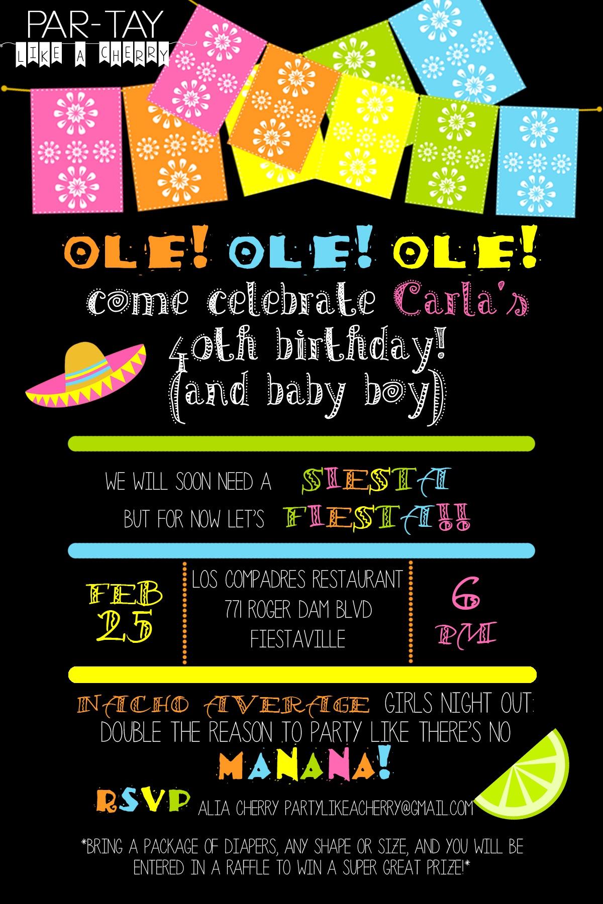 Free Editable Fiesta Invitation - Party Like A Cherry - Free Printable Fiesta Invitations