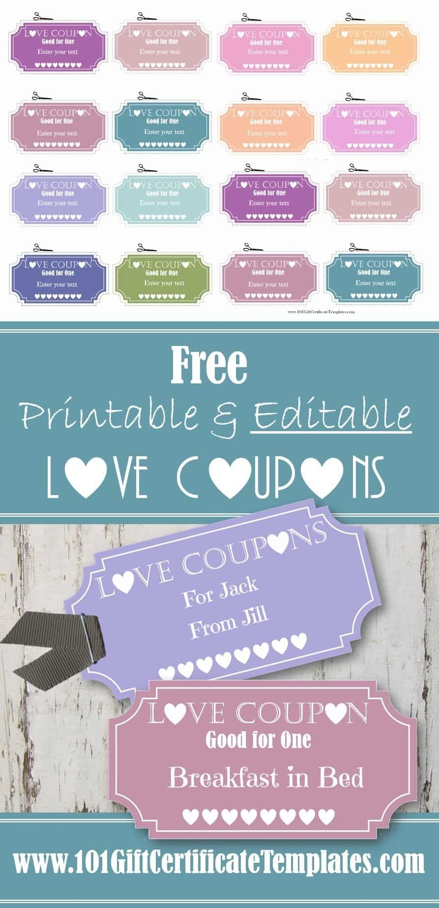 Free Editable Love Coupons For Him Or Her - Make Your Own Printable Coupons For Free