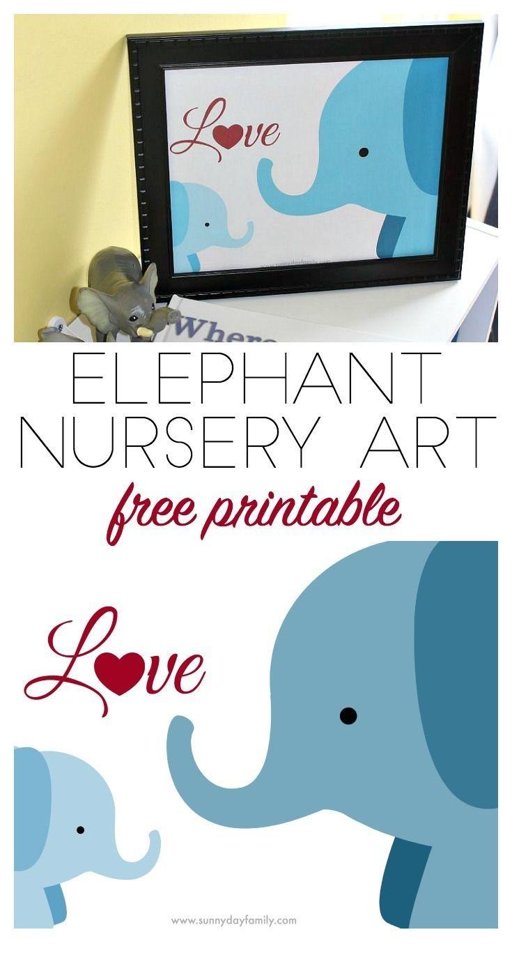 Free Elephant Nursery Printable Inspiredwhere You Go, I Go - Free Printable Elephant Pictures