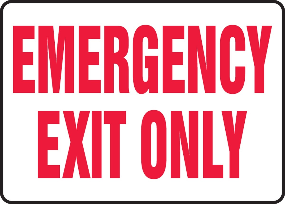 Free Emergency Exit Signs, Download Free Clip Art, Free Clip Art On - Free Printable No Exit Signs
