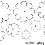 Free Fabric Flower Patterns | The Lovely Life Of Lindsay: Baby Hair   Free Printable Flower Template