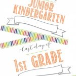 Free First Day Of School Printable Sign (+ Last Day Of School   First Day Of Kindergarten Sign Free Printable