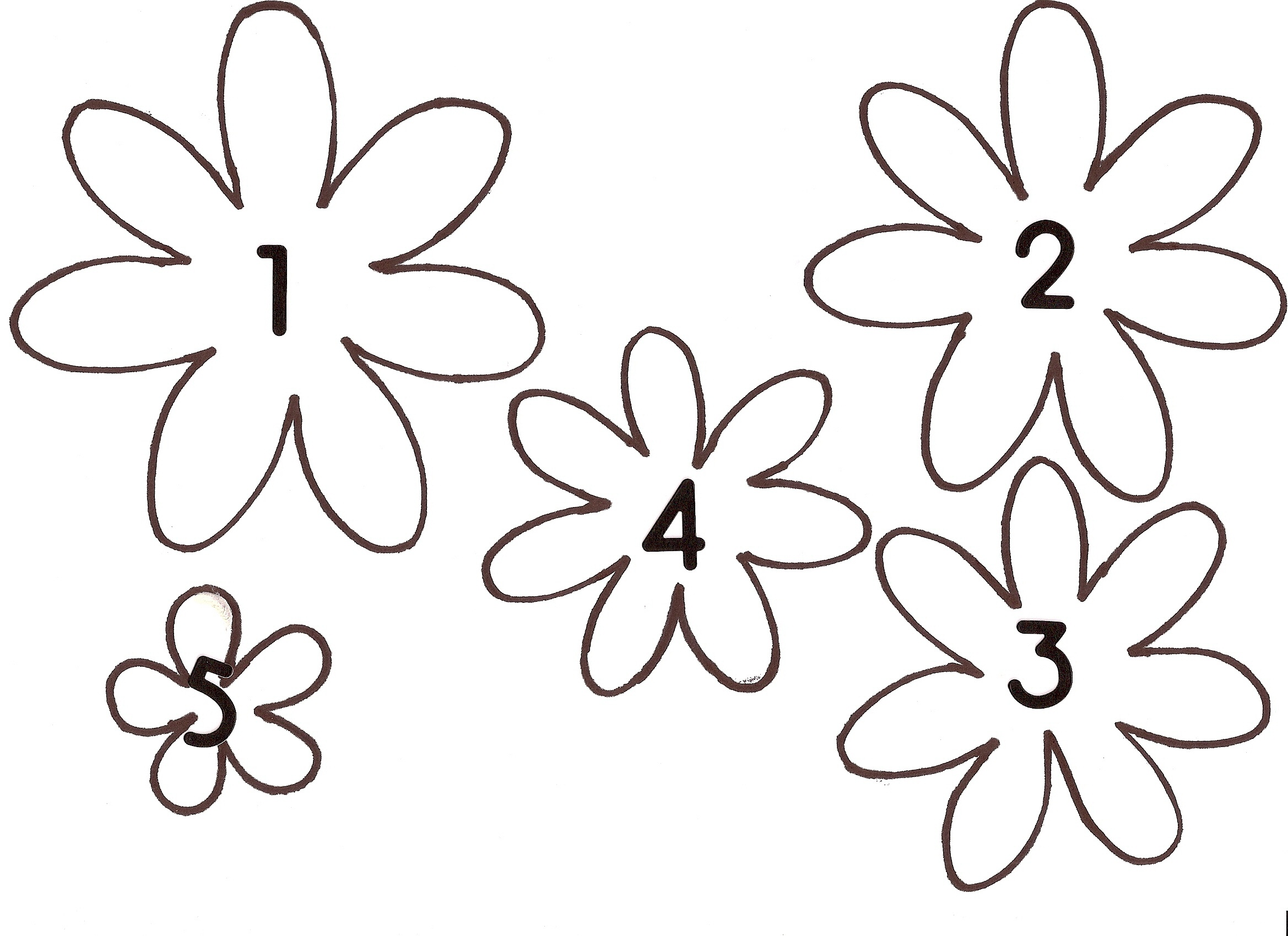 Free Flower Template, Download Free Clip Art, Free Clip Art On - Free Printable Flower Template