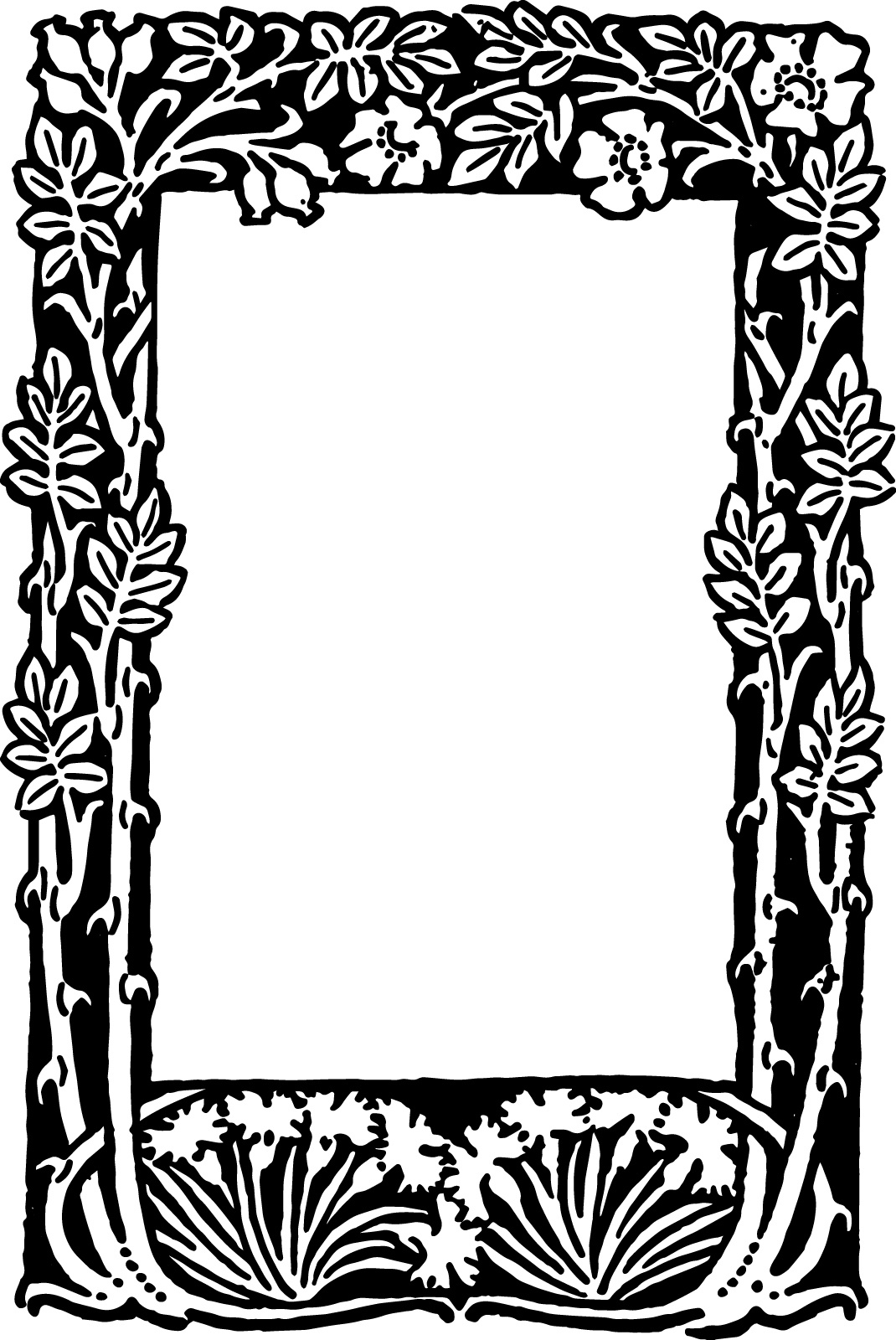 Free Free Printable Floral Borders And Frames, Download Free Clip - Free Printable Photo Frames