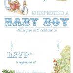 Free Free Printable Peter Rabbit Baby Shower Invitation | Free Baby   Baby Invitations Printable Free