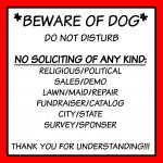 Free Front Door Sign Printable Beware Of Dog No Soliciting Etc   Free Printable No Soliciting Sign