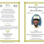 Free Funeral Program Templates | Funeral Program Sample Order Of   Free Printable Memorial Card Template