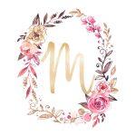 Free Glitter And Glam Monogram Printables | Kidsworld | Alphabet   Free Printable Flower Letters