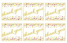 Free Gold And Polka Dot Birthday Printables | Catch My Party – Free Printable Thank You Tags For Birthday Favors