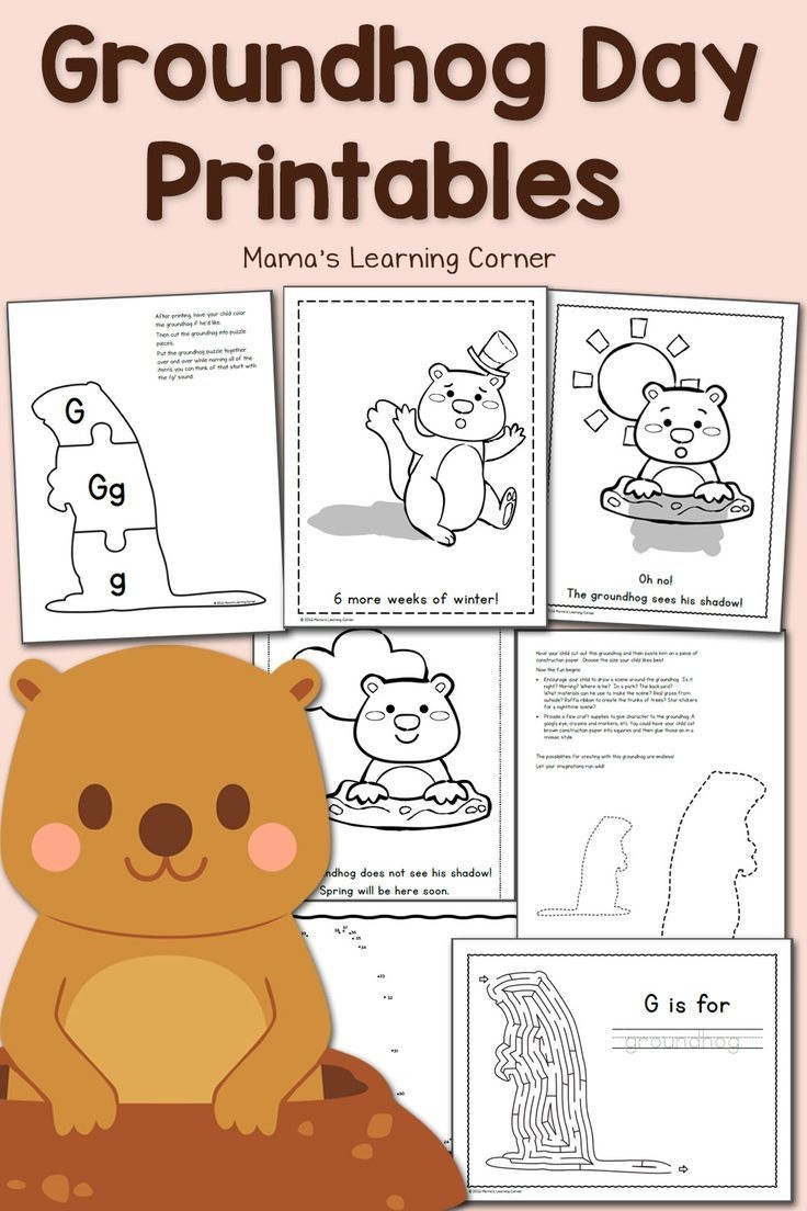 Free Groundhog Day Printables! | Worksheets & Printables For Pre-K - Free Printable Groundhog Day Booklet