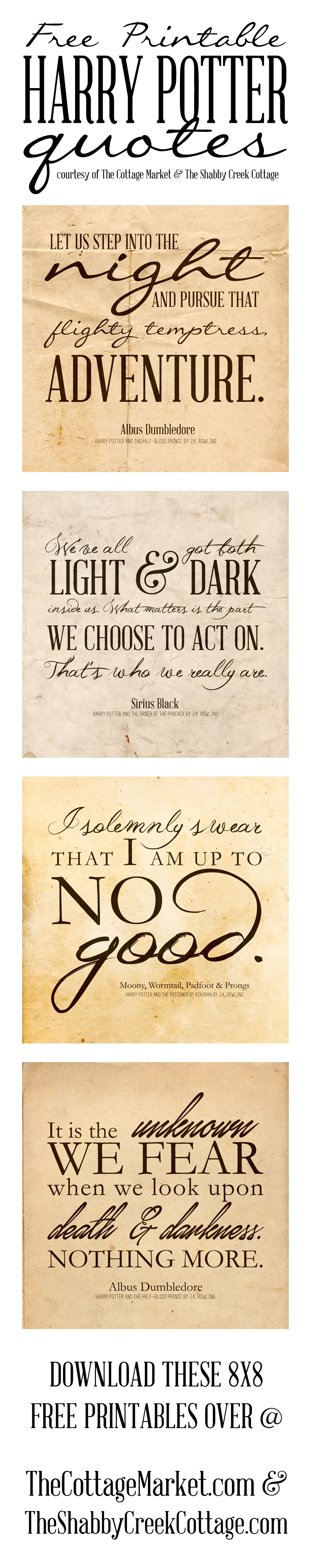 Free Harry Potter Quotes Printables - Free Harry Potter Printable Signs