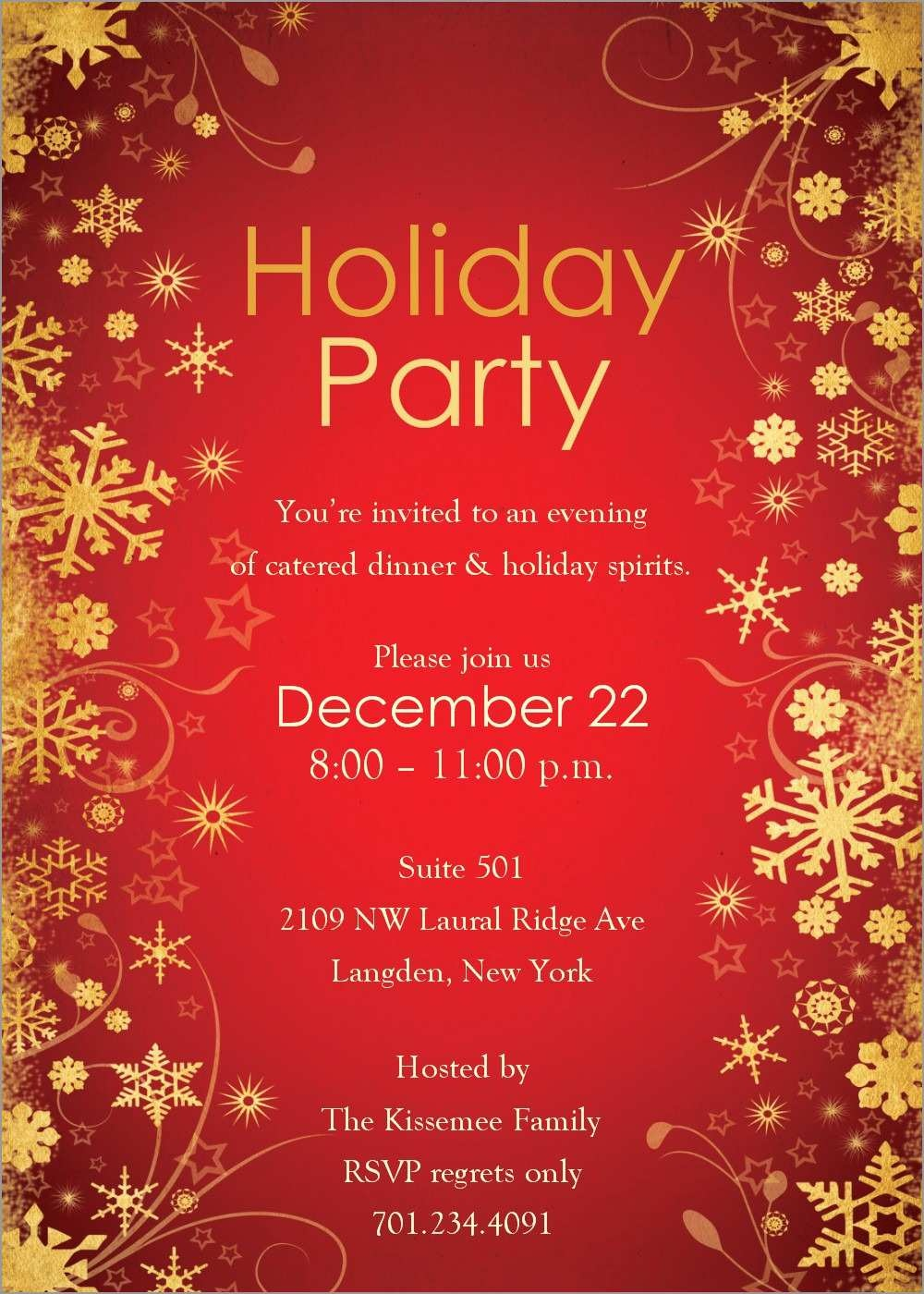 Free Holiday Invite Templates Marvelous Download Free Printable - Holiday Invitations Free Printable