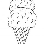 Free Ice Cream Cone Coloring Page, Download Free Clip Art, Free Clip   Ice Cream Cone Template Free Printable