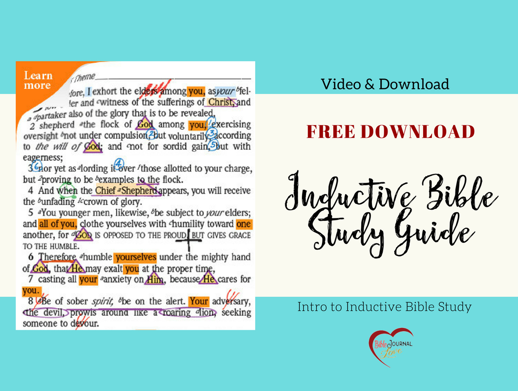 Free Inductive Bible Study Guide – Bible Journal Love - Free Printable Bible Study Guides