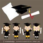 Free Kids Graduation Clipart, Download Free Clip Art, Free Clip Art   Free Printable Kindergarten Graduation Clipart