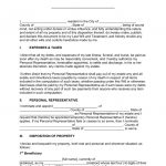 """Free Last Will And Testament Templates   A """"Will""""   Pdf   Word   Free Printable Last Will And Testament Blank Forms"""