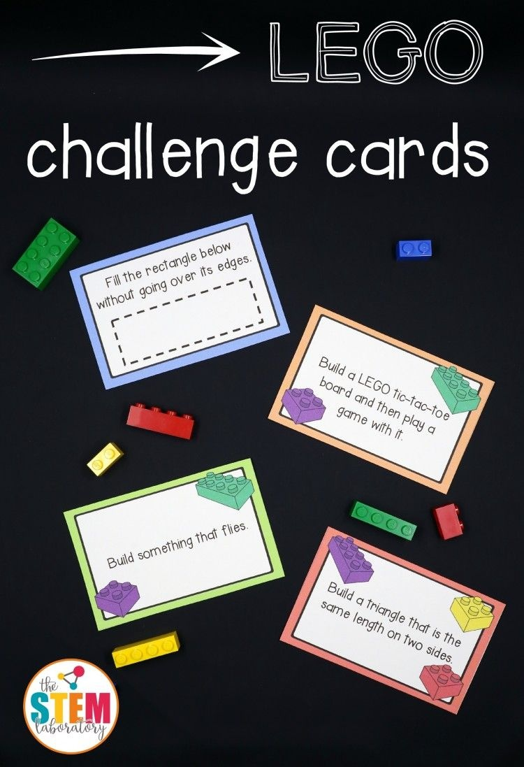 Free Lego Challenge Printable Stem Activities | Fun Ideas For Kids - Free Printable Kindergarten Task Cards