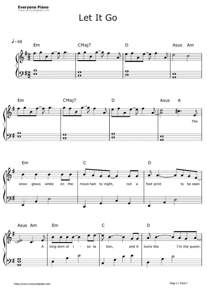 Frozen Piano Sheet Music Free Printable