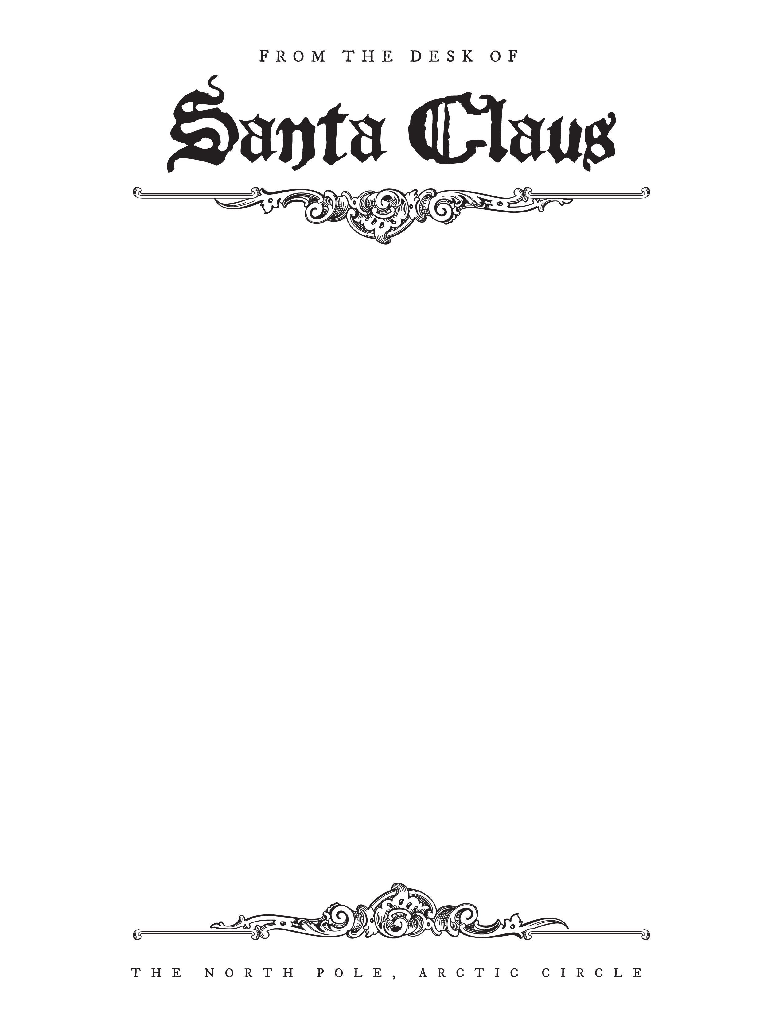 Free Letter From Santa Stationary Template   Christmas   Santa - North Pole Stationary Printable Free