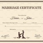 Free Marriage Certificate Template Word Amazing Printable Marriage   Free Printable Wedding Certificates