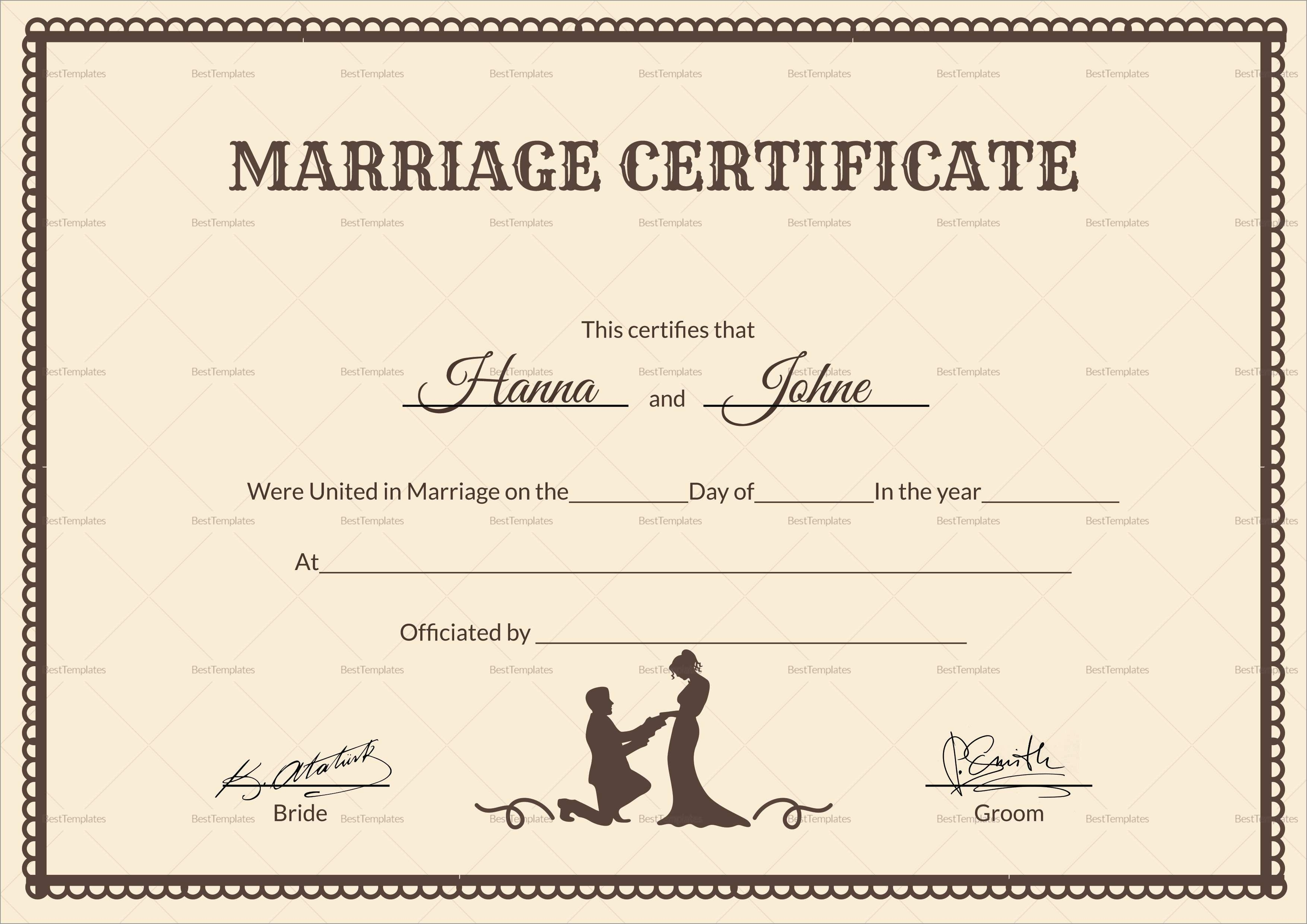 Free Marriage Certificate Template Word Amazing Printable Marriage - Free Printable Wedding Certificates