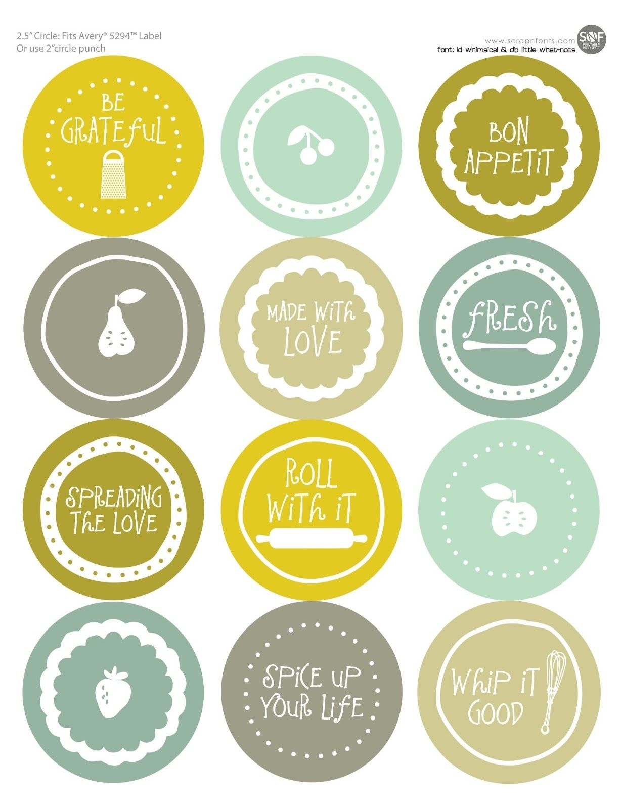 Free Mason Jar Labels To Print | All Wrapped Up | Jar Labels, Mason - Free Printable Mason Jar Labels Template
