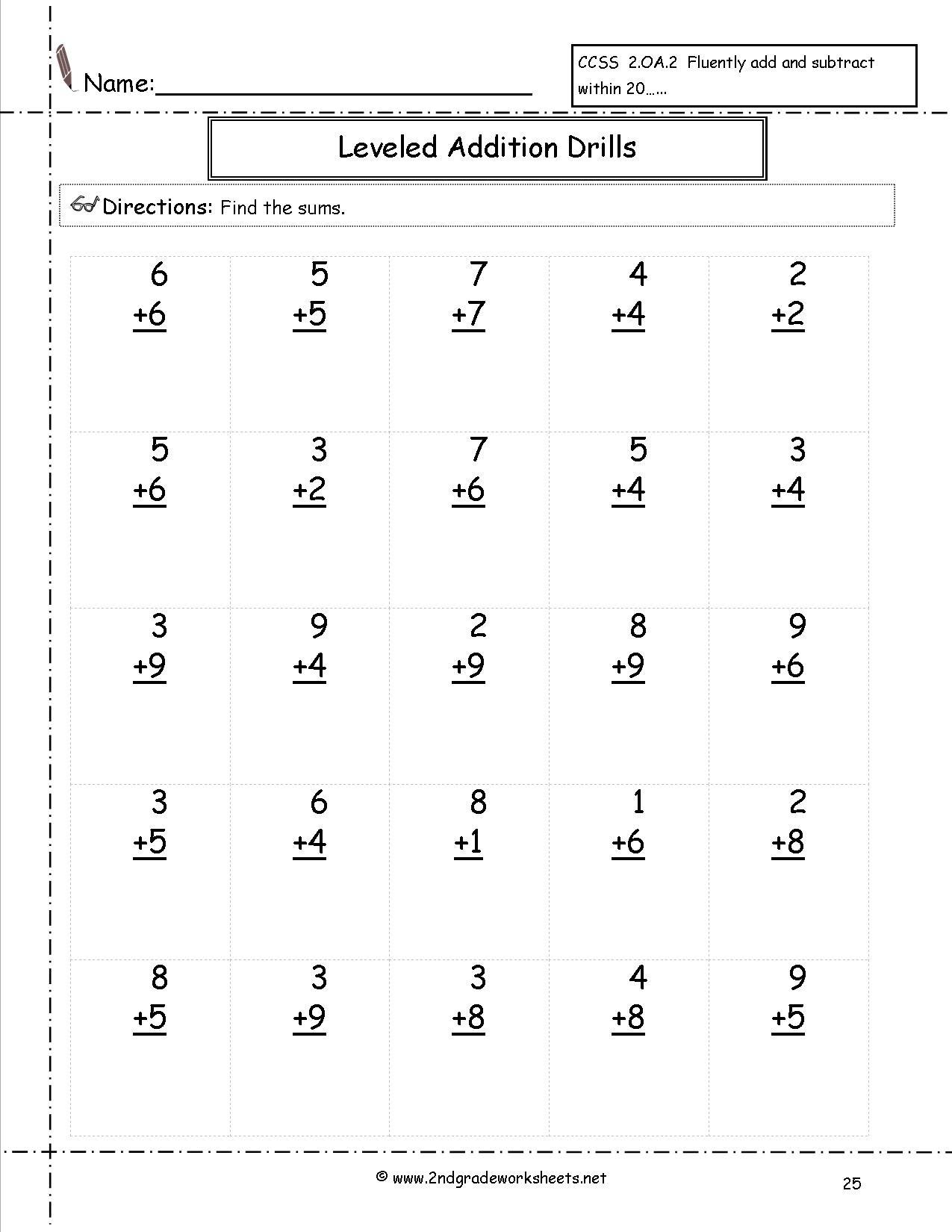 Free Math Worksheets And Printouts - Free Printable Math Sheets